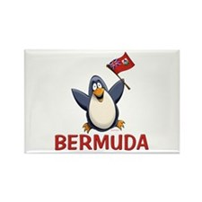 Bermuda Penguin Rectangle Magnet
