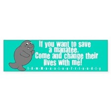 Save a Manatee Bumper Sticker