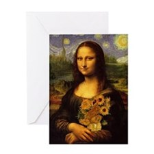 """Mona Van Gogh"" Greeting Card"