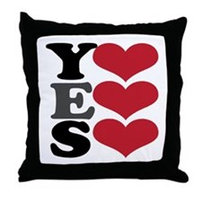 Yes Love Throw Pillow