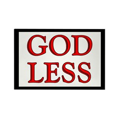 GODLESS Rectangle Magnet (10 pack)