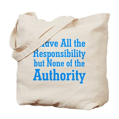 No Authority Tote Bag