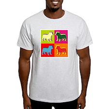 Bulldog Silhouette Pop Art T-Shirt