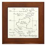 Chagos Chart Framed Tile