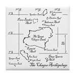 Chagos Chart Tile Coaster