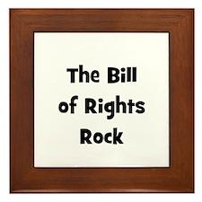 The Bill Of Rights Rock Framed Tile