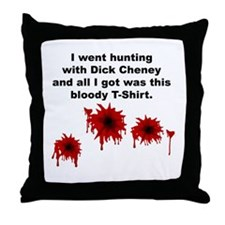 Cheney Bloody Shirt Throw Pillow