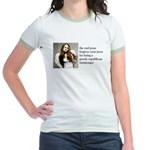 The Real Jesus Forgives Your Jr. Ringer T-Shirt
