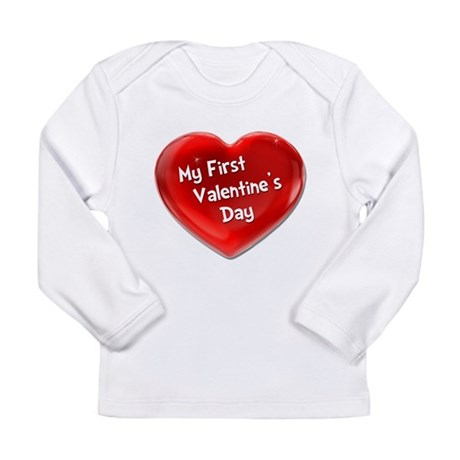 My First Valentine's Day 4 Long Sleeve Infant T-Sh