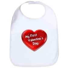 My First Valentine's Day 4 Bib