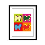 Chow Chow Silhouette Pop Art Framed Panel Print