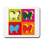 Chow Chow Silhouette Pop Art Mousepad