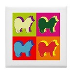 Chow Chow Silhouette Pop Art Tile Coaster