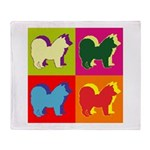 Chow Chow Silhouette Pop Art Throw Blanket