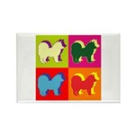 Chow Chow Silhouette Pop Art Rectangle Magnet (100