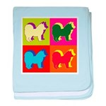 Chow Chow Silhouette Pop Art baby blanket