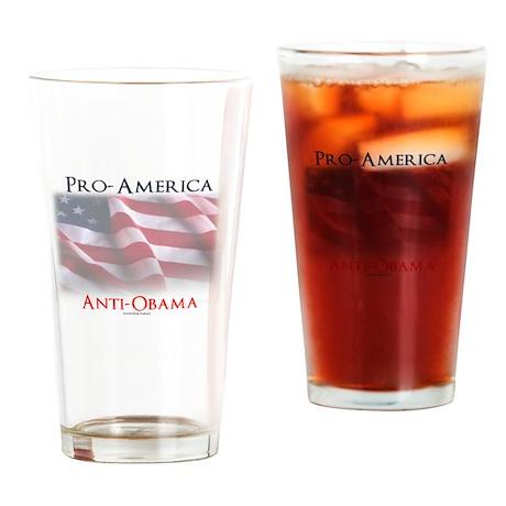 Pro-America Anti-Obama Drinking Glass
