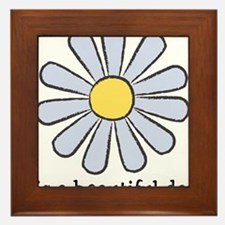 Blue Daisy - Beautiful Day Framed Tile