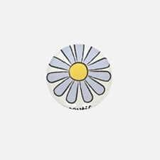 Blue Daisy - Beautiful Day Mini Button