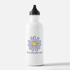 Blue Daisy - Beautiful Day Water Bottle