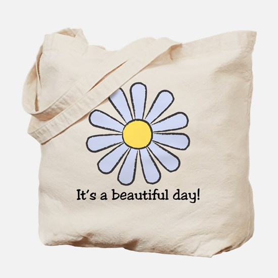 Blue Daisy - Beautiful Day Tote Bag