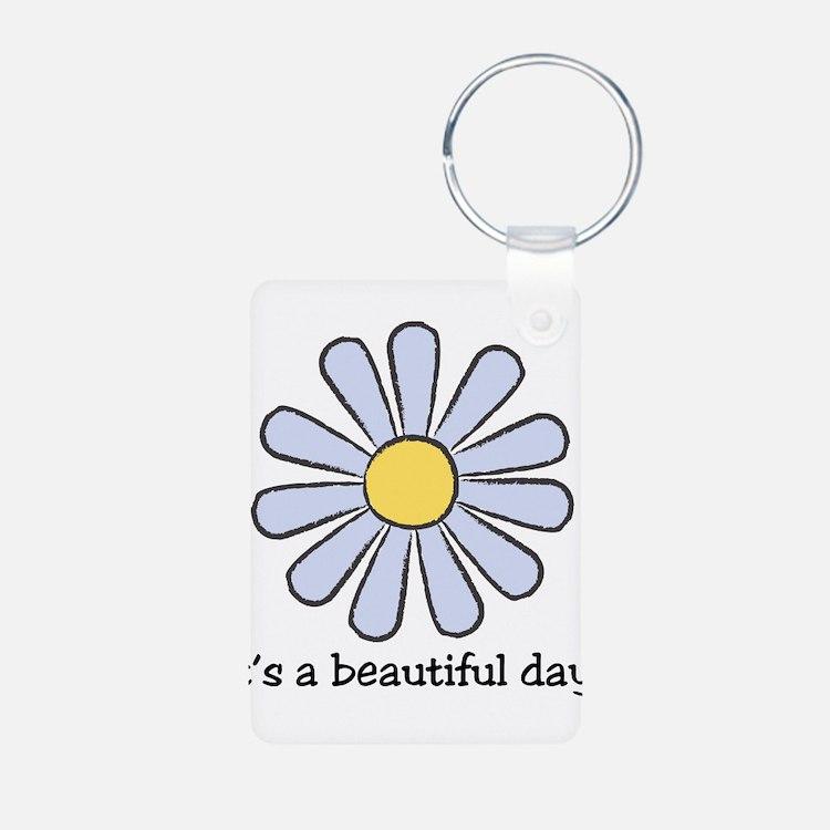 Blue Daisy - Beautiful Day Keychains