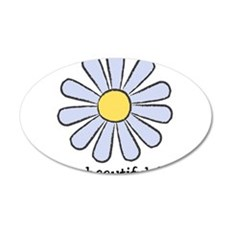 Blue Daisy - Beautiful Day 22x14 Oval Wall Peel