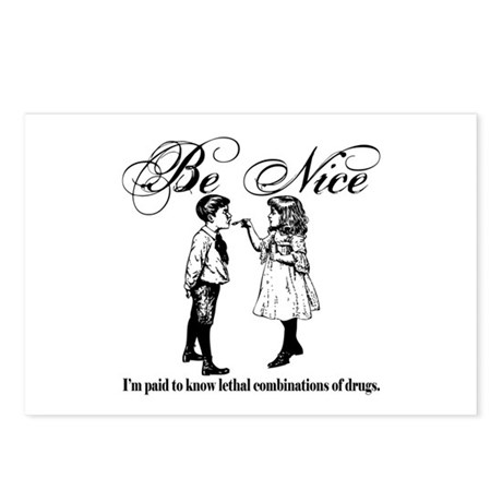 Pharmacy - Be Nice Postcards (Package of 8)