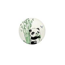 Panda Eating Bamboo Mini Button (10 pack)