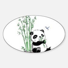 Panda Eating Bamboo Decal