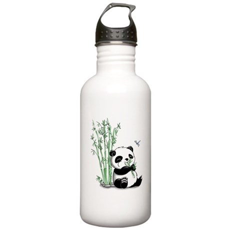 Panda Eating Bamboo Stainless Water Bottle 1.0L