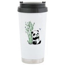 Panda Eating Bamboo Travel Mug