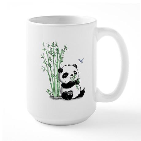 Panda Eating Bamboo Large Mug