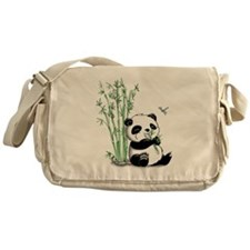 Panda Eating Bamboo Messenger Bag