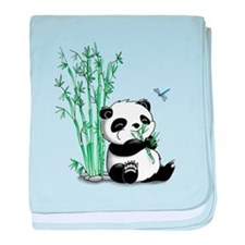 Panda Eating Bamboo baby blanket