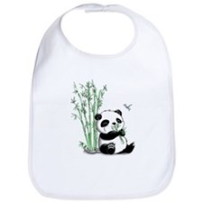 Panda Eating Bamboo Bib