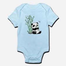 Panda Eating Bamboo Infant Bodysuit