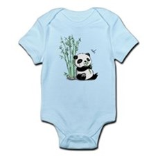 Panda Eating Bamboo Onesie