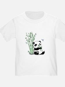 Panda Eating Bamboo T