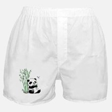Panda Eating Bamboo Boxer Shorts