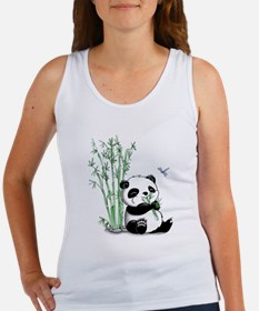 Panda Eating Bamboo Women's Tank Top