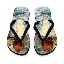 Toulouse Lautrec Bath Flip Flops