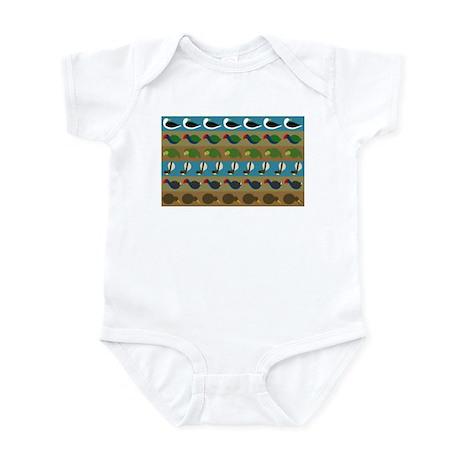 NZ bird stripes Infant Bodysuit