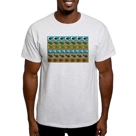 NZ bird stripes Light T-Shirt