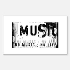 Music 3 Sticker (Rectangle)