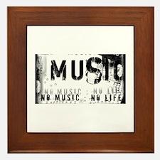 Music 3 Framed Tile
