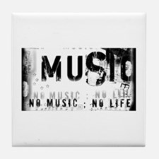 Music 3 Tile Coaster