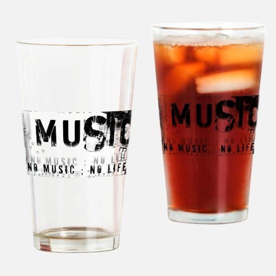 Music 3 Drinking Glass