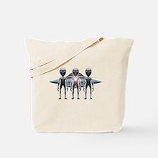 Aliens Landing Tote Bag