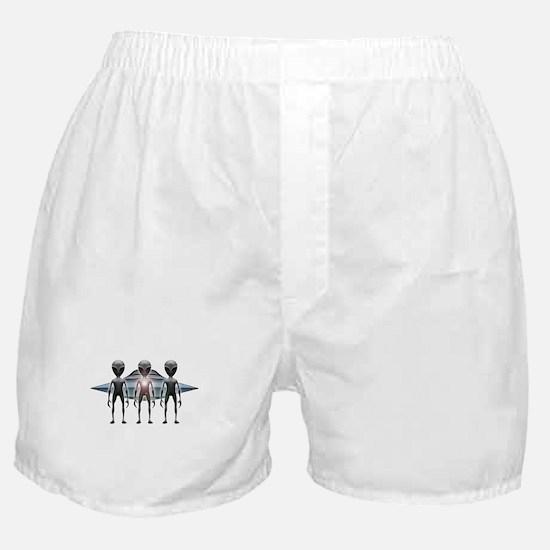 Aliens Landing Boxer Shorts